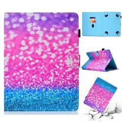 UNIVERZÁLIS notesz / mappa tablet PC tok - FLITTER MINTÁS - álló, bőr, mágneses, asztali tartó funkciós, 10
