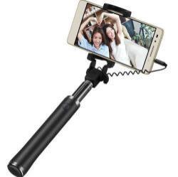 XIAOMI teleszkópos Selfie bot - 3.5 mm jack csatlakozó, távkioldó exponáló gomb, 270 fokban forgatható bölcső, 18-72cm-ig állítható - FEKETE - GYÁRI