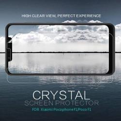 NILLKIN képernyővédő fólia - Crystal Clear - 1db, törlőkendővel - Xiaomi Pocophone F1 - GYÁRI