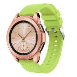 Okosóra szíj - szilikon, Twill mintás - ZÖLD - 130mm + 85mm hosszú, 20mm széles, max 225mm-es csuklóra - SAMSUNG SM-R810NZ Galaxy Watch 42mm