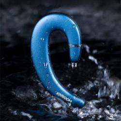 JOYROOM bluetooth headset - KÉK - V4.2, IPX5 vízállóság, felvevő gomb, mikrofon - GYÁRI
