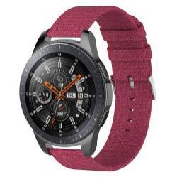 Okosóra szíj - szövet, 115mm + 90mm hosszú, 22mm széles - PIROS - SAMSUNG Galaxy Watch 46mm / SAMSUNG Gear S3 Classic / SAMSUNG Gear S3 Frontier