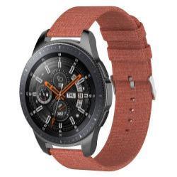 Okosóra szíj - szövet, 115mm + 90mm hosszú, 22mm széles - NARANCS - SAMSUNG Galaxy Watch 46mm / SAMSUNG Gear S3 Classic / SAMSUNG Gear S3 Frontier