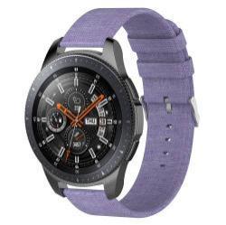 Okosóra szíj - szövet, 115mm + 90mm hosszú, 22mm széles - LILA - SAMSUNG Galaxy Watch 46mm / SAMSUNG Gear S3 Classic / SAMSUNG Gear S3 Frontier