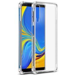 IMAK Silky szilikon védő tok / hátlap - ÁTLÁTSZÓ - ERŐS VÉDELEM! - képernyővédő fóliával! - SAMSUNG SM-A750F Galaxy A7 (2018) - GYÁRI