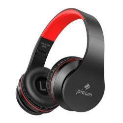PICUN B16 SZTEREO BLUETOOTH HEADSET / FEJHALLGATÓ - V5.0, 500mAh, 3,5mm jack, AUX csatlakozó, Micro-SD bővíthetőség, beépített mikrofon - FEKETE