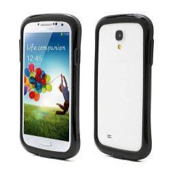 Szilikon védő keret - BUMPER - FEKETE - SAMSUNG GT-I9500 / I9502 / I9505 Galaxy S IV.