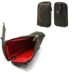 Tok - álló, univerzális, zipzár, tépőzár, karabíner, övre fűzhető - ZÖLD - 160 x 95 mm