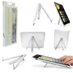 UNIVERZÁLIS tablet PC állvány / asztali tartó, dokkoló - EZÜST SZÍNÛ - alumínium - 7-10