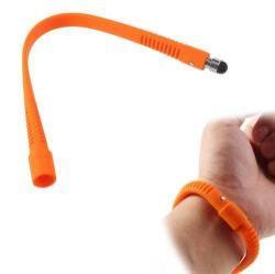 Érintõképernyõ ceruza - szilikon, csuklóra rögzíthetõ, kapacitív kijelzõhöz, 21 cm - NARANCS