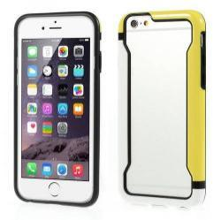 DUO szilikon védõ keret - BUMPER - FEHÉR / SÁRGA - APPLE iPhone 6