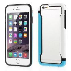 DUO szilikon védõ keret - BUMPER - KÉK / FEHÉR - APPLE iPhone 6