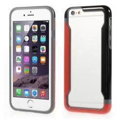 DUO szilikon védõ keret - BUMPER - PIROS / FEKETE - APPLE iPhone 6