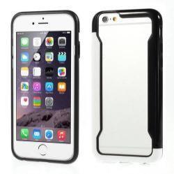 DUO szilikon védõ keret - BUMPER - FEHÉR / FEKETE - APPLE iPhone 6