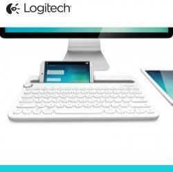 LOGITECH UNIVERZÁLIS BLUETOOTH billentyűzet - K480 - asztali tartó funkció, QWERTY angol nyelvű!,  billentyűzet - FEHÉR - GYÁRI