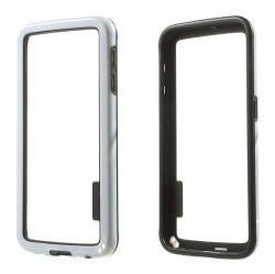 Szilikon védõ keret - BUMPER - FEHÉR / FEKETE - SAMSUNG SM-G920 Galaxy S6