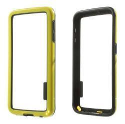 Szilikon védõ keret - BUMPER - SÁRGA / FEKETE - SAMSUNG SM-G920 Galaxy S6