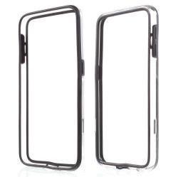 Szilikon védõ keret - BUMPER - FEKETE / ÁTLÁTSZÓ - SAMSUNG SM-G920 Galaxy S6