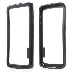 Szilikon védõ keret - BUMPER - FEKETE - SAMSUNG SM-G925F Galaxy S6 Edge