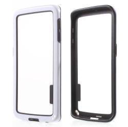 Szilikon védõ keret - BUMPER - FEHÉR / FEKETE - SAMSUNG SM-G925F Galaxy S6 Edge