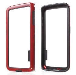 Szilikon védõ keret - BUMPER - PIROS / FEKETE - SAMSUNG SM-G925F Galaxy S6 Edge