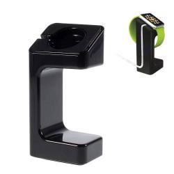 Asztali töltő állvány - Apple Watch 38mm / 42mm - töltő kábel elvezető - FEKETE