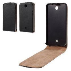 SLIM FLIP tok - lefelé nyíló, rejtett mágneses záródás - FEKETE - MICROSOFT Lumia 430 Dual SIM
