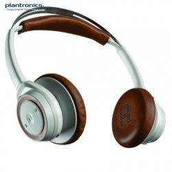 PLANTRONICS BackBeat SENSE SZTEREO BLUETOOTH fejhallgató / headset - mikrofon, audió kezelő gombok, 3.5 jack kábel, USB töltő - FEHÉR / BARNA - GYÁRI