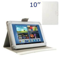 UNIVERZÁLIS notesz / mappa tablet PC tok - FEHÉR - álló, bõr, mágneses, asztali tartó funkciós, 10