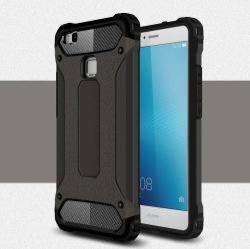 OTT! MAX DEFENDER műanyag védő tok / hátlap - BRONZ - szilikon belső, ERŐS VÉDELEM! - HUAWEI P9 lite