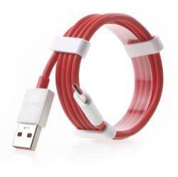 Oneplus Fast Charge adatátvitel adatkábel és USB töltőkábel (USB Type-C, 1m, max 4A kimenetre képes!) PIROS - GYÁRI