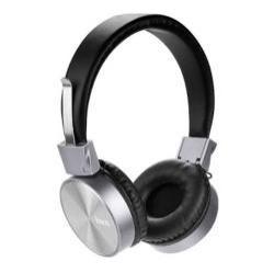HOCO W2 METAL sztereó fejhallgató / headset - FEKETE - 3,5mm Jack, mikrofon, felvevő gomb, 1,2m hosszú vezeték - GYÁRI