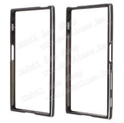 Alumínium védõ keret - bumper - FEKETE - Sony Xperia XZ (F8331) / Sony Xperia XZ Dual (F8332)