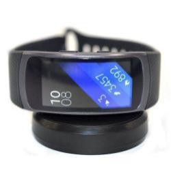 Asztali töltõ állvány / dokkoló - FEKETE - SAMSUNG Galaxy Gear Fit 2 SM-R360 / Samsung Gear Fit 2 Pro SM-R365