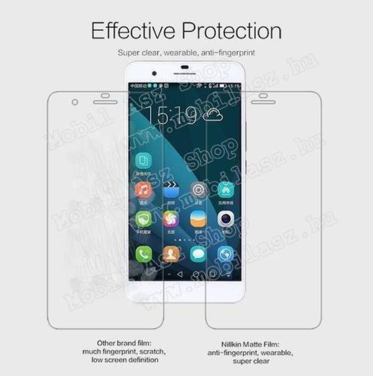 NILLKIN képernyővédő fólia - Anti Glare - 1db, törlőkendővel - HUAWEI Honor 6 Plus