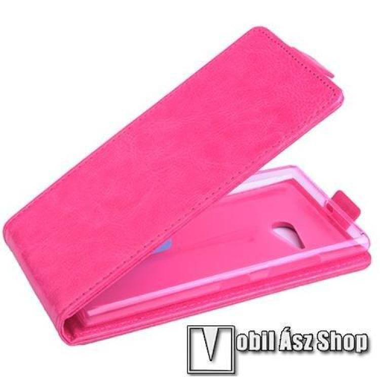 NOKIA Lumia 730 DUAL SIMSLIM FLIP tok - lefelé nyíló, rejtett mágneses záródás - RÓZSASZÍN - NOKIA Lumia 730  NOKIA Lumia 735 - PRÉMIUM!