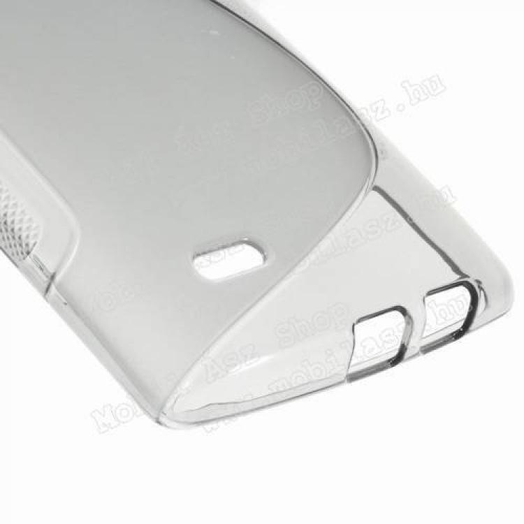 Szilikon védő tok / hátlap - FÉNYES / MATT - SZÜRKE - LG G Flex 2 (F510L / H950 / H955 / LS996)