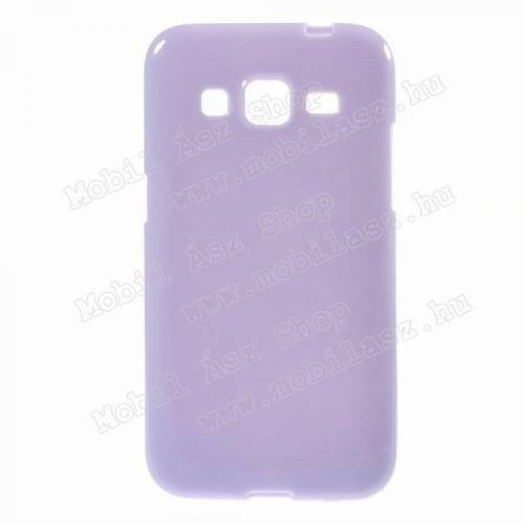 SAMSUNG Galaxy Core Prime (SM-G360F)Szilikon védő tok  hátlap - FÉNYES - LILA - SAMSUNG SM-G360F Galaxy Core Prime