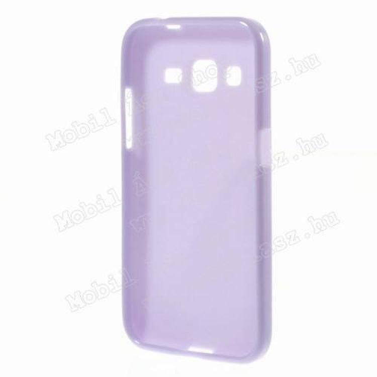 Szilikon védő tok / hátlap - FÉNYES - LILA - SAMSUNG SM-G360F Galaxy Core Prime