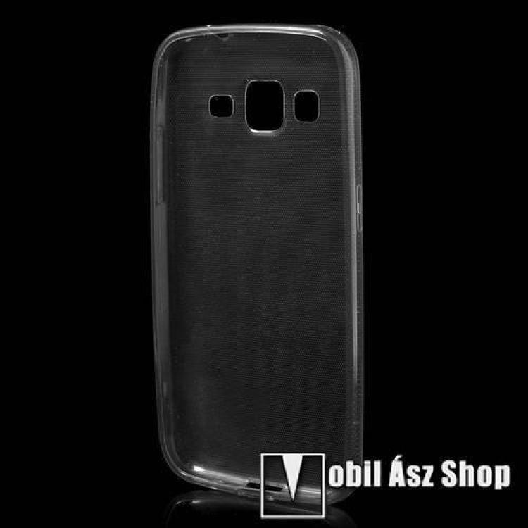 ULTRAVÉKONY szilikon védő tok / hátlap - 0,6 mm - ÁTLÁTSZÓ / SZÜRKE - SAMSUNG SM-G360F Galaxy Core Prime