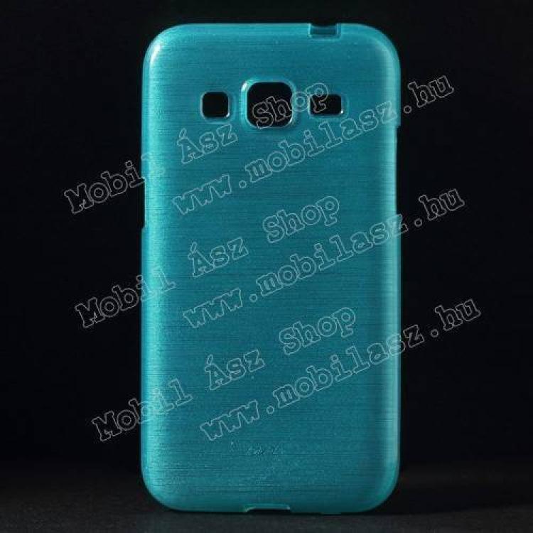 SAMSUNG Galaxy Core Prime (SM-G360F)Szilikon védő tok  hátlap - szálcsiszolt mintázat - VILÁGOSKÉK - SAMSUNG SM-G360F Galaxy Core Prime