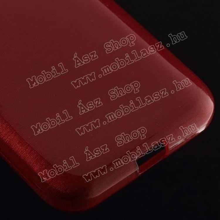 Szilikon védő tok / hátlap - szálcsiszolt mintázat - PIROS - SAMSUNG SM-G360F Galaxy Core Prime