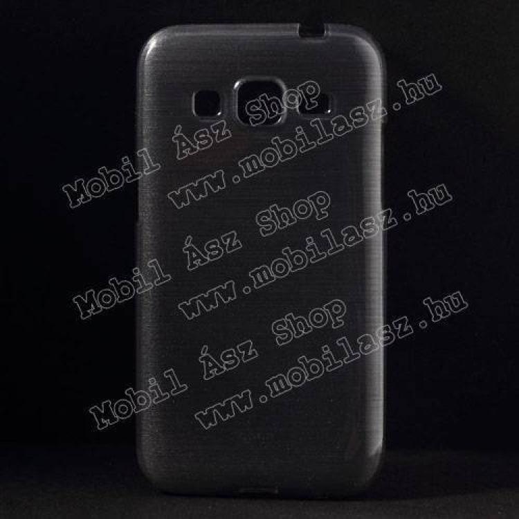 SAMSUNG Galaxy Core Prime (SM-G360F)Szilikon védő tok  hátlap - szálcsiszolt mintázat - SZÜRKE - SAMSUNG SM-G360F Galaxy Core Prime