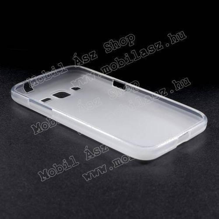 Szilikon védő tok / hátlap - FLEXI - FEHÉR - SAMSUNG SM-G360F Galaxy Core Prime