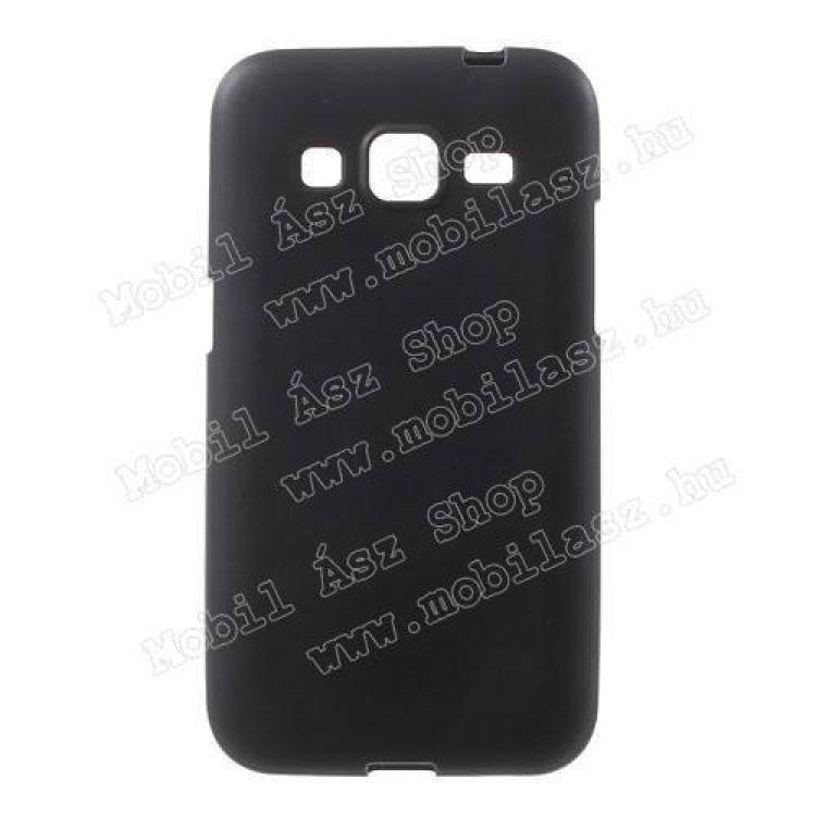 SAMSUNG Galaxy Core Prime (SM-G360F)Szilikon védő tok  hátlap - FLEXI - FEKETE - SAMSUNG SM-G360F Galaxy Core Prime