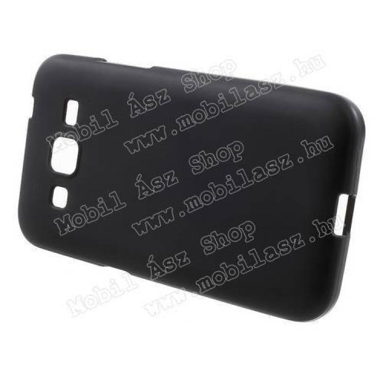 Szilikon védő tok / hátlap - FLEXI - FEKETE - SAMSUNG SM-G360F Galaxy Core Prime