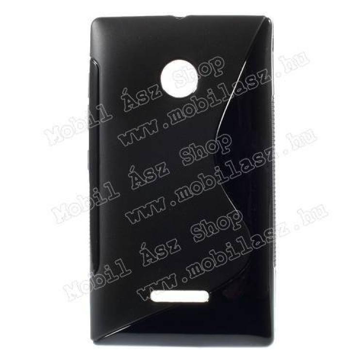 MICROSOFT Lumia 435 Dual SIMSzilikon védő tok  hátlap - FÉNYES  MATT - FEKETE - MICROSOFT Lumia 435  Lumia 435 Dual SIM  Lumia 532  Lumia 532 Dual SIM