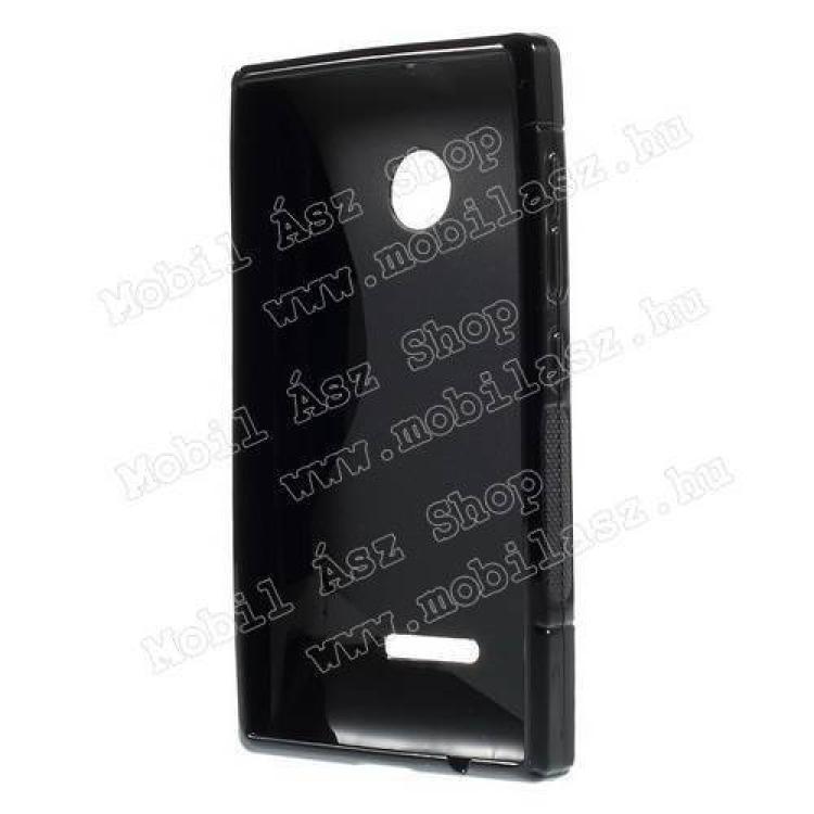 Szilikon védő tok / hátlap - FÉNYES / MATT - FEKETE - MICROSOFT Lumia 435 / Lumia 435 Dual SIM / Lumia 532 / Lumia 532 Dual SIM