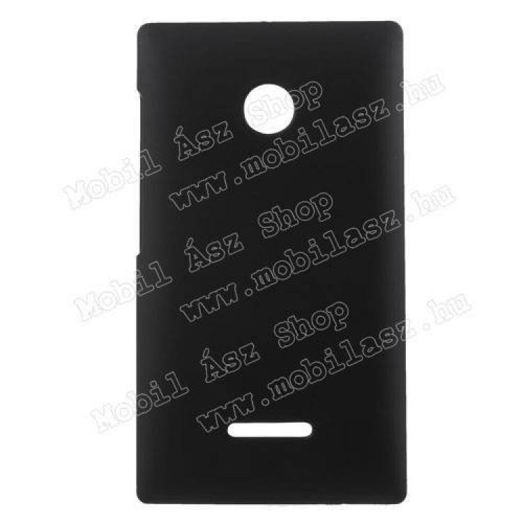 MICROSOFT Lumia 435 Dual SIMMűanyag védő tok  hátlap - Hybrid Protector - FEKETE - MICROSOFT Lumia 435  Lumia 435 Dual SIM