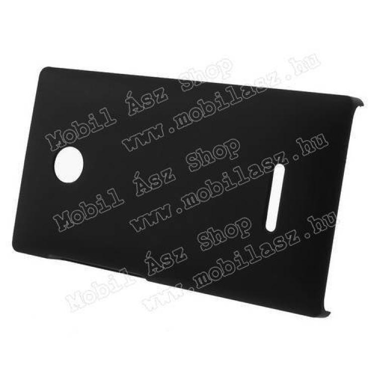 Műanyag védő tok / hátlap - Hybrid Protector - FEKETE - MICROSOFT Lumia 435 / Lumia 435 Dual SIM